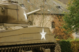 WWII Tank outside Clerveaux Castle